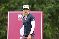 Pernilla Lindberg (SWE) on the 9th tee during Thursday's Round 1 of The Evian Championship 2018, held at the Evian Resort Golf Club, Evian-les-Bains, France. 13th September 2018.<br /> Picture: Eoin Clarke | Golffile<br /> <br /> <br /> All photos usage must carry mandatory copyright credit (&copy; Golffile | Eoin Clarke)