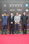 He Ping (left) on the Red Carpet event at the World Celebrity Pro-Am 2016 Mission Hills China Golf Tournament on 20 October 2016, in Haikou, China. Photo by Weixiang Lim / Power Sport Images