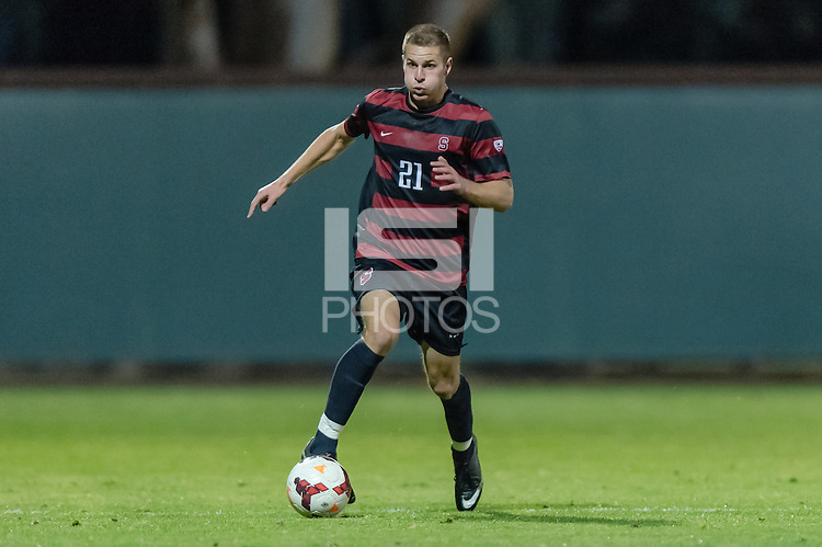 November 13, 2013:  Jimmy Callinan during the Stanford vs Cal men's soccer match in Stanford, California.  Stanford won 2-1 in overtime.