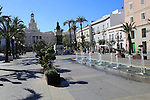Ayuntamiento city hall building in Plaza de San Juan de Dios, Cadiz, Spain
