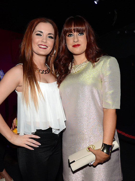 Grainne Thompson and Amy Sheridan pictured at the benefit night for DJ Tayo Sheridan in Galaxy Night Club. Photo:Colin Bell/pressphotos.ie