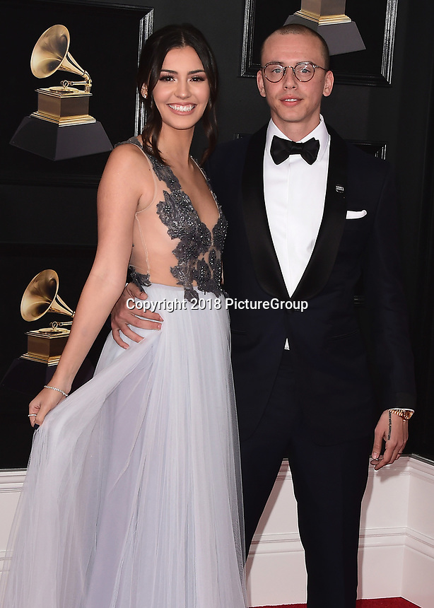 NEW YORK - JANUARY 28:  Logic at the 60th Annual Grammy Awards at Madison Square Garden on January 28, 2018 in New York City. (Photo by Scott Kirkland/PictureGroup)