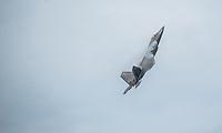 An F-22 Raptor maneuvers during Arctic Thunder 2016 at Joint Base Elmendorf-Richardson. Photo by James R. Evans