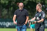 28.07.2020, Trainingsgelaende am wohninvest WESERSTADION,, Bremen, GER, 1.FBL, Werder Bremen Training U23, im Bild<br /> <br /> <br /> THOMAS SCHAAF (TECHNISCHER DIREKTOR SV WERDER BREMEN)  RE<br /> BASTIAN WOLFF (Athletik)<br /> <br /> <br /> Foto © nordphoto / Kokenge