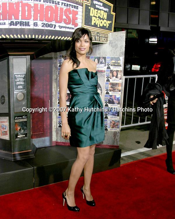 "Rosario Dawson.""Grindhouse"" Los Angeles Premiere.Orpheum  Theater.Los Angeles, CA.March 25, 2007.©2007 Kathy Hutchins / Hutchins Photo."
