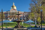 The Massachusetts State House on the Freedom Trail, Boston Common, Boston, Massachusetts, USA