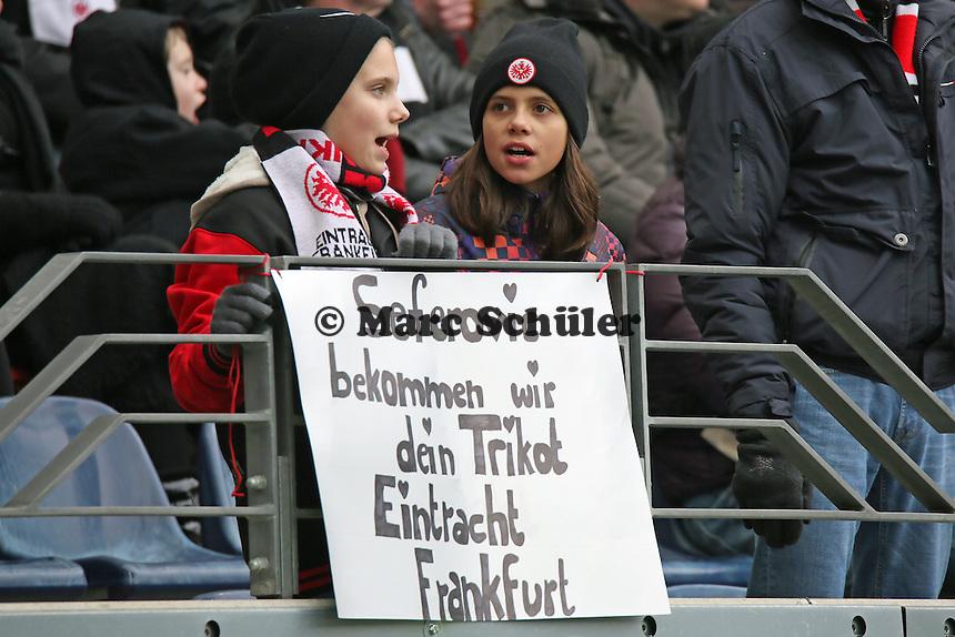 Fans von Haris Seferovic - Eintracht Frankfurt vs. SC Paderborn 07, Commerzbank Arena