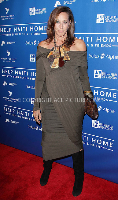 WWW.ACEPIXS.COM . . . . .  ..... . . . . US SALES ONLY . . . . .....January 14 2012, LA....Donna Karan at the Cinema for Peace event benefiting the J/P Haitian Relief Organization held at Montage on January 14 2012 in Los Angeles....Please byline: FAMOUS-ACE PICTURES... . . . .  ....Ace Pictures, Inc:  ..Tel: (212) 243-8787..e-mail: info@acepixs.com..web: http://www.acepixs.com