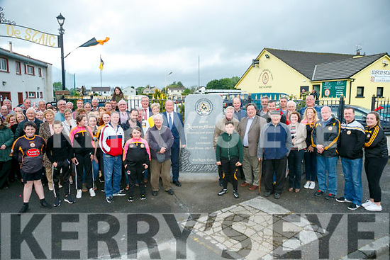 Large crowd at the Unveils  of The Rock monument to commemorate the  100 year celebrations  outside Austin Stacks GAA club grounds at Connolly Park on Monday evening