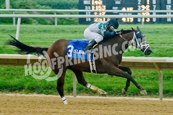Eldaafer winning The Carl Hanford Memorial Stakes at Delaware Park on 9/8/12