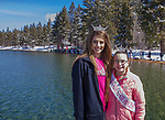 Miss Pleasant Valley Jordan Van Worth and Nevada State Princess Madi Norris during the Polar Plunge at Zephyr Cove on Sunday, March 18, 2018.  The Polar Plunge benefits the Northern California and Northern Nevada Special Olympics.