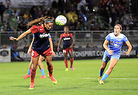 Boyds, MD - Friday Sept. 30, 2016: Shelina Zadorsky, Amanda Da Costa during a National Women's Soccer League (NWSL) semi-finals match between the Washington Spirit and the Chicago Red Stars at Maureen Hendricks Field, Maryland SoccerPlex. The Washington Spirit won 2-1 in overtime.
