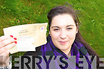 TWO MONTHS LATE: Emily McGaley from Castleisland who posted her entry for the Kerry's Eye draw for All-Ireland final tickets in September and which only arrived on Monday last.   Copyright Kerry's Eye 2008