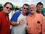 John Hennebry Donore, Mark Robinson, Martin Daly Cord Road, Fr. Iggy Donovan at the concert in Slane.Pic Fran Caffrey  Newsfile