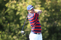 Brooks Koepka (Team USA) on the 10th tee during Saturday afternoon Fourball at the Ryder Cup, Hazeltine National Golf Club, Chaska, Minnesota, USA.  01/10/2016<br /> Picture: Golffile | Fran Caffrey<br /> <br /> <br /> All photo usage must carry mandatory copyright credit (&copy; Golffile | Fran Caffrey)