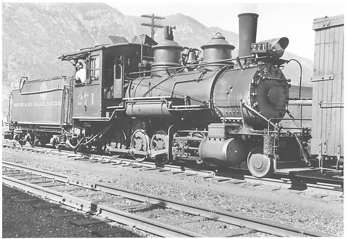3/4 engineer's-side view of D&amp;RGW #217 switching at Durango.<br /> D&amp;RGW  Durango, CO  Taken by Vollrath, Harold K. - 8/1940