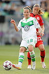 VfL Wolfsburg's Vanessa Bernauer (l) and Olympique Lyonnais's Camile Abily during UEFA Women's Champions League 2015/2016 Final match.May 26,2016. (ALTERPHOTOS/Acero)