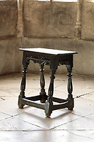 BNPS.co.uk (01202 558833)<br /> Pic: Dukes/BNPS<br /> <br /> A Charles II stool from around the time of the fire of London smashed its pre-sale estimate of £3,000, fetching £33,800.<br /> <br /> The contents of one of England's finest stately homes are expected to fetch over £1m when they go under the hammer.<br /> <br /> The auction of a myriad of treasures inside Athelhampton House in Dorset is being hailed as one of the best country house sales for a generation <br /> <br /> The collection of fine art, furniture, sculptures, paintings and rugs has been amassed by three generations of the Cooke family who have just sold the Tudor mansion for £7.5m.