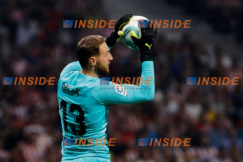 Jan Oblak of Atletico de Madrid during La Liga match between Atletico de Madrid and Real Madrid at Wanda Metropolitano Stadium in Madrid, Spain. September 28, 2019. (ALTERPHOTOS/A. Perez Meca)<br /> Liga Spagna 2019/2020 <br /> Atletico Madrid - Real Madrid <br /> Foto Perez Meca Alterphotos / Insidefoto <br /> ITALY ONLY