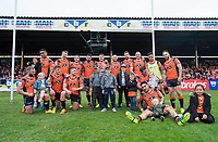 Picture by Allan McKenzie/SWpix.com - 13/05/2017 - Rugby League - Ladbrokes Challenge Cup - Castleford Tigers v St Helens - The Mend A Hose Jungle, Castleford, England - Castleford pose for a team picture after their victory over St Helens in the Ladbrokes Challenge Cup.