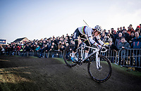 CX World Champion Sanne Cant (BEL/Iko-Crelan) attacking the pump track<br /> <br /> Azencross Loenhout 2019 (BEL)<br />  <br /> ©kramon