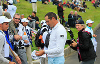 Julien Quesne (FRA) finishes on the 18th during Round 2 of the 100th Open de France, played at Le Golf National, Guyancourt, Paris, France. 01/07/2016. <br /> Picture: Thos Caffrey | Golffile<br /> <br /> All photos usage must carry mandatory copyright credit   (&copy; Golffile | Thos Caffrey)