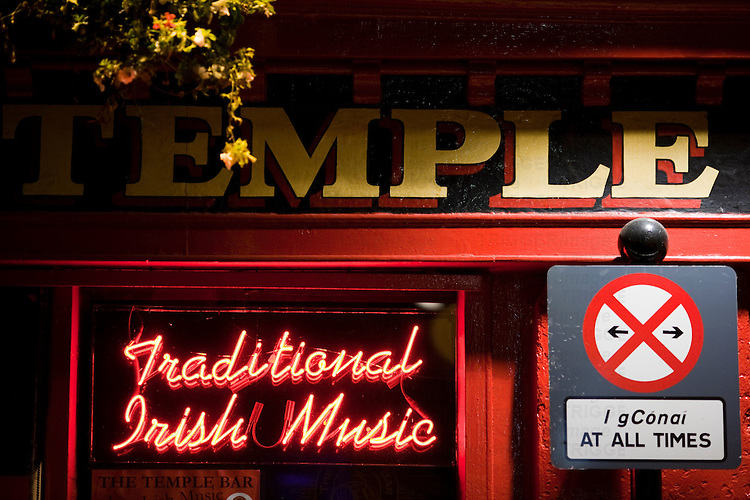 Signs from Temple Bar, Dublin, Ireland