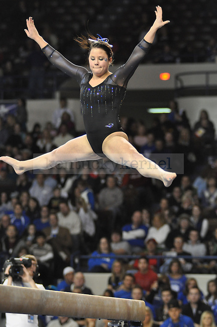 On January 28th  at 7pm, in Memorial Coliseum the University of Kentucky Women's Gymnastics' went off against the Georgia Bulldogs.