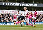 Tottenham's Harry Kane scoring his sides opening goal during the Premier League match at White Hart Lane Stadium.  Photo credit should read: David Klein/Sportimage