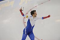 SPEEDSKATING: SALT LAKE CITY: 09-12-2017, Utah Olympic Oval, ISU World Cup, 1500m Men A-Division, Denis Yuskov (RUS), World record, 1.41,02, ©photo Martin de Jong