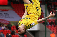 Fleetwood Town's Ashley Hunter celebrates scoring his side's fourth goal <br /> <br /> Photographer David Shipman/CameraSport<br /> <br /> The EFL Sky Bet League One - Doncaster Rovers v Fleetwood Town - Saturday 6th October 2018 - Keepmoat Stadium - Doncaster<br /> <br /> World Copyright © 2018 CameraSport. All rights reserved. 43 Linden Ave. Countesthorpe. Leicester. England. LE8 5PG - Tel: +44 (0) 116 277 4147 - admin@camerasport.com - www.camerasport.com