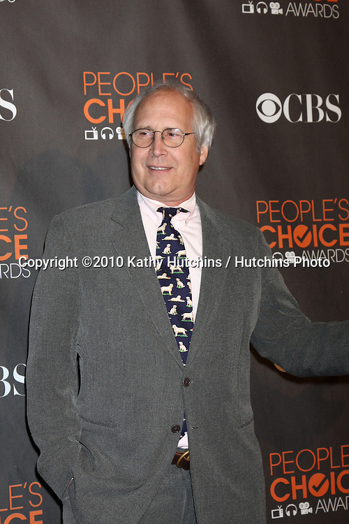 Chevy Chase.arriving  at the 2010 People's Choice Awards.Nokia Theater.January 6, 2010.©2010 Kathy Hutchins / Hutchins Photo.