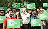 Jeremy Corbyn MP <br /> Labour leadership contender launches his policies for the environment outlining his vision for a greener future. at the Camley Street Natural Park, Kings Cross, London, Great Britain <br /> 7th August 2015 <br /> <br /> Jeremy Corbyn <br /> <br /> <br /> Photograph by Elliott Franks <br /> Image licensed to Elliott Franks Photography Services