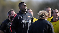 20130131 Copyright onEdition 2013©.Free for editorial use image, please credit: onEdition..Maro Itoje during the Saracens Captains Run at Old Albanians Rugby Club, St Albans on Thursday 31st January 2013 (Photo by Rob Munro)..For press contacts contact: Sam Feasey at brandRapport on M: +44 (0)7717 757114 E: SFeasey@brand-rapport.com..If you require a higher resolution image or you have any other onEdition photographic enquiries, please contact onEdition on 0845 900 2 900 or email info@onEdition.com.This image is copyright onEdition 2013©..This image has been supplied by onEdition and must be credited onEdition. The author is asserting his full Moral rights in relation to the publication of this image. Rights for onward transmission of any image or file is not granted or implied. Changing or deleting Copyright information is illegal as specified in the Copyright, Design and Patents Act 1988. If you are in any way unsure of your right to publish this image please contact onEdition on 0845 900 2 900 or email info@onEdition.com