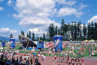 Burnaby, BC, British Columbia, Canada - Labatt 24 Hour Relay Fundraising Event, Swangard Stadium, Central Park