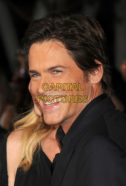 Rob Lowe .The Los Angeles premiere of 'The Twilight Saga Breaking Dawn Part 1' at Nokia Theatre at L.A. Live in Los Angeles, California, USA..November 14th, 2011.headshot portrait black  smiling.CAP/ROT/TM.©Tony Michaels/Roth Stock/Capital Pictures