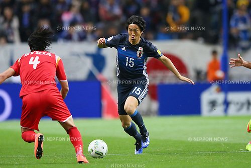 Mu Kanazaki (JPN), MARCH 29, 2016 - Football / Soccer : FIFA World Cup Russia 2018 Asian Qualifier Second Round Group E match between Japan 5-0 Syria at Saitama Stadium 2002, Saitama, Japan. (Photo by YUTAKA/AFLO SPORT)
