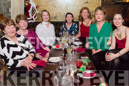 Enjoying a well deserved night out on Women's Christmas at The Olde Glenbeigh Hotel<br /> L-R: Kathleen McCarthy, Patricia O'Sullivan, Sinead Casey, Maggie Sullivan, Ciara McGrath, Siobhan Horgan &amp; Katis Sullivan.