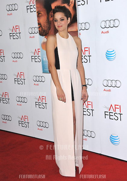 """Marion Cotillard at the AFI Fest 2012 premiere of her movie """"Rust and Bone"""" at Grauman's Chinese Theatre, Hollywood..November 5, 2012  Los Angeles, CA.Picture: Paul Smith / Featureflash"""