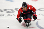 Masaharu Kumagai (JPN), <br /> MARCH 13, 2018 - Para Ice Hockey : <br /> Qualification round between Czech Republic 3-0 Japan <br /> at Gangneung Hockey Centre during the PyeongChang 2018 Paralympics Winter Games in Pyeongchang, South Korea. <br /> (Photo by Yusuke Nakanishi/AFLO)