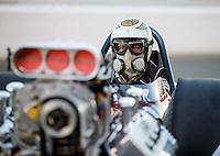 Jul 29, 2016; Sonoma, CA, USA; NHRA nostalgia top fuel driver XXXX during qualifying for the Sonoma Nationals at Sonoma Raceway. Mandatory Credit: Mark J. Rebilas-USA TODAY Sports