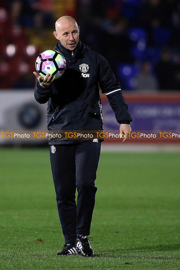 Manchester United U23 Manager, Nicky Butt during Chelsea Under-23 vs Manchester United Under-23, Premier League 2 Football at the EBB Stadium on 9th December 2016