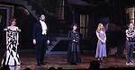 "Leslie Kritzer, Adam Dannheisser, Sophia Anne Caruso, Kerry Butler and Rob McClure during the Broadway Opening Night Performance Curtain Call for ""Beetlejuice"" at The Winter Garden on April 25, 2019 in New York City."