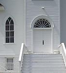Douglas County, Washington: Facade detail of St Paul's Lutheran Church, in Douglas