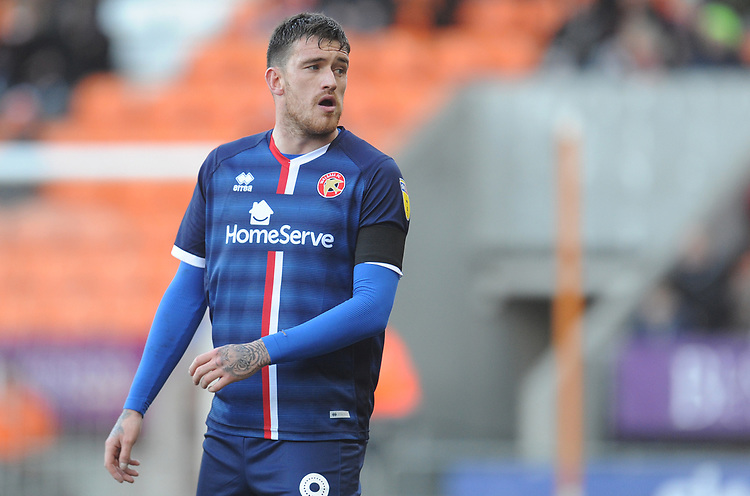 Walsall's Andy Cook<br /> <br /> Photographer Kevin Barnes/CameraSport<br /> <br /> The EFL Sky Bet League One - Blackpool v Walsall - Saturday 9th February 2019 - Bloomfield Road - Blackpool<br /> <br /> World Copyright © 2019 CameraSport. All rights reserved. 43 Linden Ave. Countesthorpe. Leicester. England. LE8 5PG - Tel: +44 (0) 116 277 4147 - admin@camerasport.com - www.camerasport.com