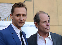 Tom Hiddleston + Marc Abraham @ the premiere of 'I Saw The Light' held @ the Egyptian theatre.<br /> March 22, 2016
