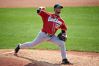 Great Lakes Loons pitcher Isaac Anderson (37) delivers a pitch during a game against the Clinton LumberKings on August 16, 2015 at Ashford University Field in Clinton, Iowa.  Great Lakes defeated Clinton 3-2 in ten innings.  (Mike Janes/Four Seam Images)
