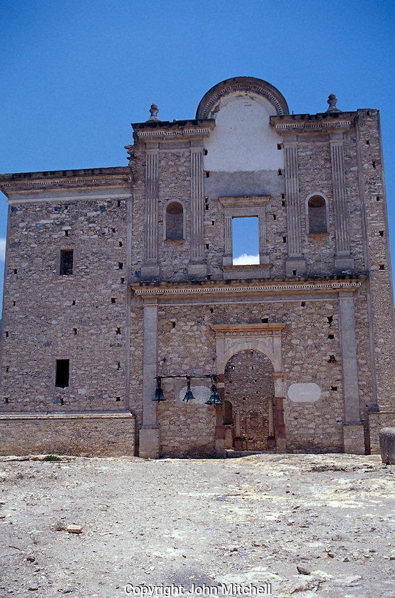 The ruins of the Ex-Convento de Bucareli in the Sierra Gorda Biosphere Reserve, Queretaro state, Mexico