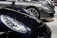 São Paulo, SP - 03.11.2014 - SALÃO INTERNACIONAL DO AUTOMÓVEL -  Carros da marca Porshe em exposição no 28 Salão Internacional do Automóvel no Centro de Exposições do Anhembi em São Paulo na tarde desta segunda - feira, 03. (Foto: Renato Mendes/Brazil Photo Press)