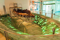 Israel,Galilee,Kibbutz Ginossar, the ancient Galilee Boat, discoverd in 1986, lengh 8,2 m, is dated at firts centuries AC-DC